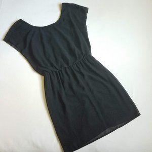 🛒 City Triangles | Sheer Black Mini Dress